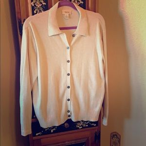 Talbots Button Down Cardigan with Collar